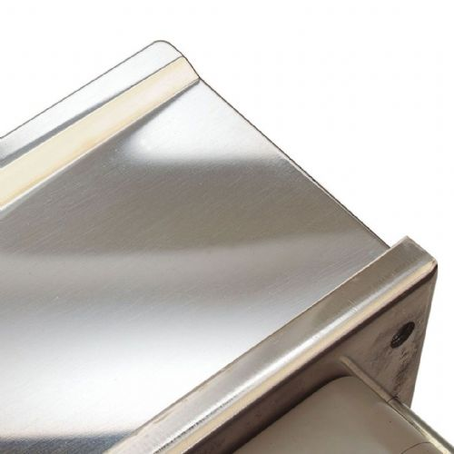Intumescent Fire & Smoke Rated Telescopic Letter Box System 12 inch Polished Stainless Steel